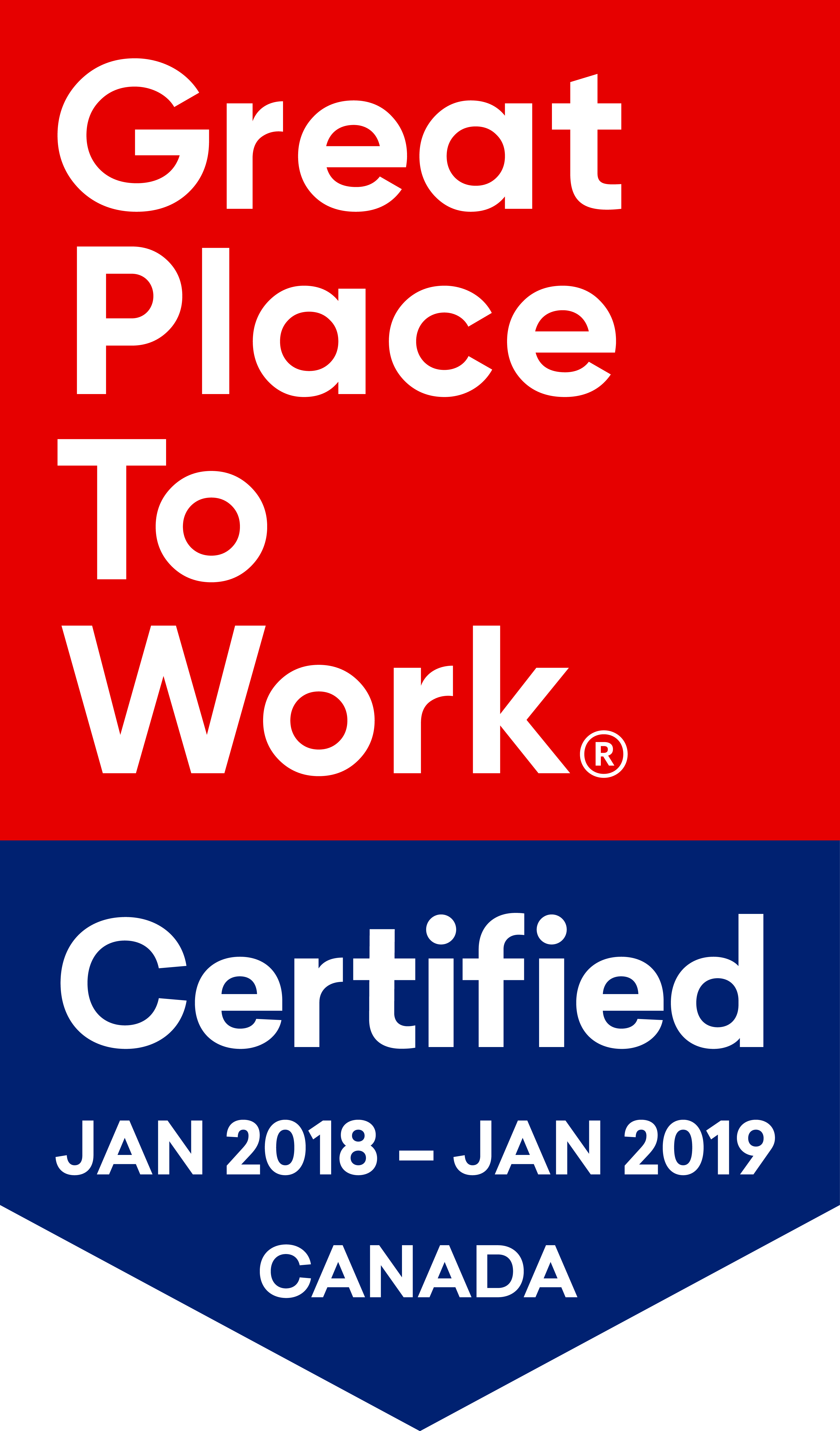 Certification Toolkit 2018 Great January To - Canada Work Place