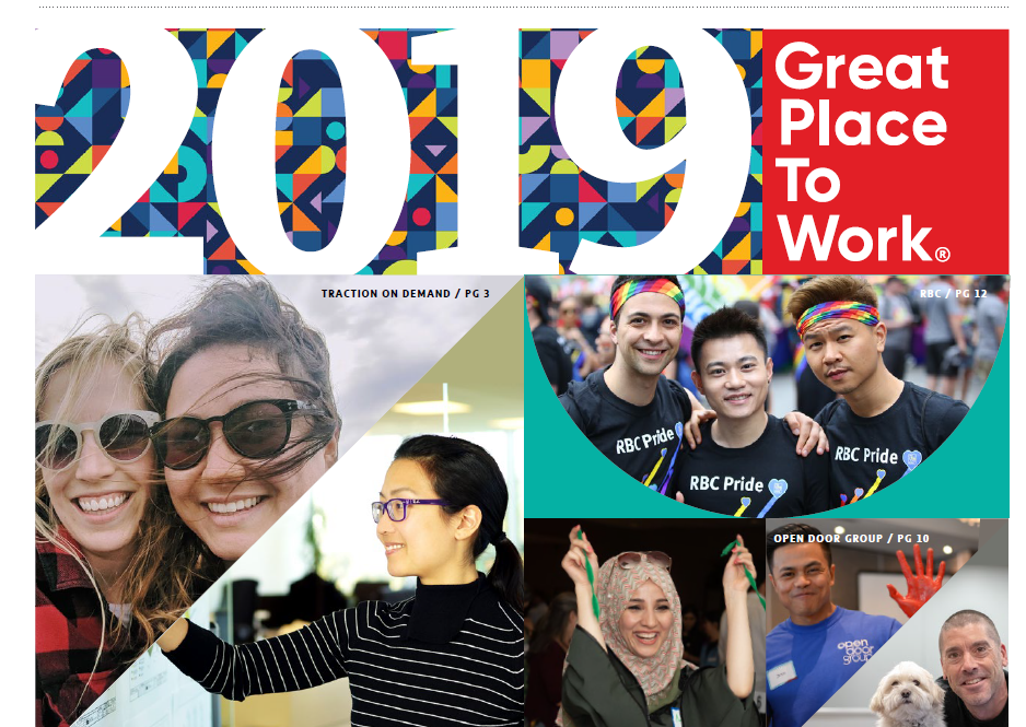 The Globe and Mail's Special National Report for 2019 Best Workplaces in Canada