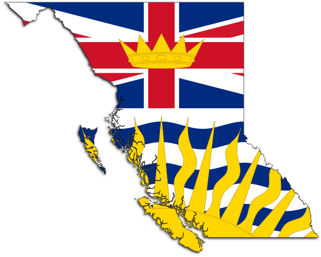 Flag map of Alberta