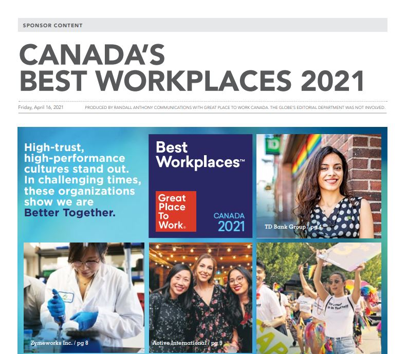 Best Workplaces in Canada 2021 Feature
