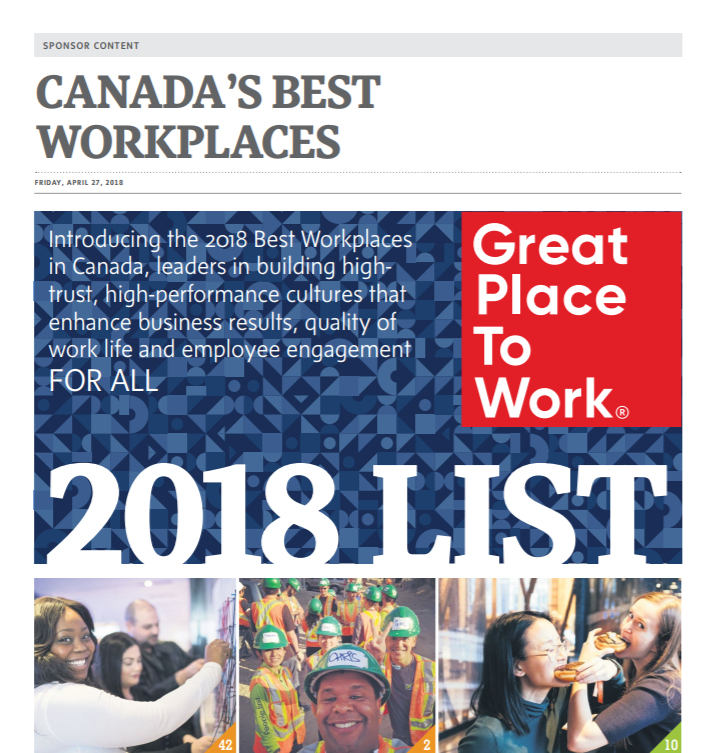CANADA'S BEST WORKPLACES